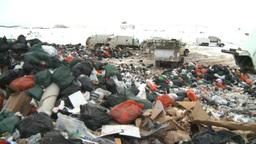 HD2008-12-8-12 landfill caterpiller g truck Stock Video Footage