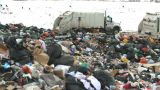 HD2008-12-8-14 Landfill Caterpiller G Truck stock footage