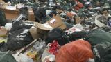 HD2008-12-8-16 Landfill Caterpiller G Truck stock footage