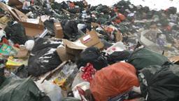 HD2008-12-8-16 landfill caterpiller g truck Stock Video Footage
