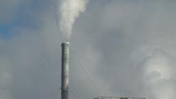 HD2008-12-9-2 Smoke stacks winter Stock Video Footage