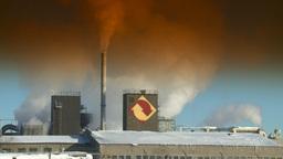 HD2008-12-9-4 Smoke stacks winter CK filter Footage