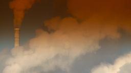 HD2008-12-9-6 Smoke stacks winter CK filter Stock Video Footage