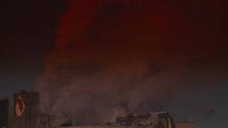 HD2008-12-9-10 Smoke stacks winter CK filter Stock Video Footage