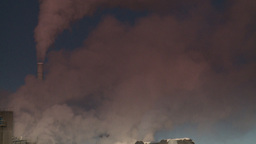 HD2008-12-9-12 Smoke stacks winter CK filter Stock Video Footage