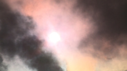 HD2008-12-9-16 Steam cloud obscured sun Stock Video Footage