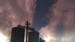 HD2008-12-9-18 Smoke stacks winter CK filter Stock Video Footage