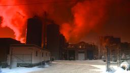 HD2008-12-9-24 Smoke stacks winter CK filter Stock Video Footage
