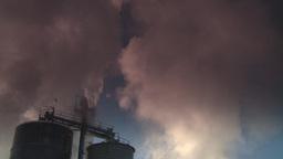 HD2008-12-9-28 Smoke stacks winter CK filter Stock Video Footage