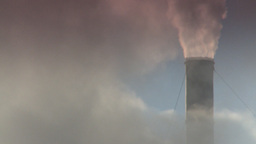 HD2008-12-9-30 Smoke stacks winter CK filter Stock Video Footage
