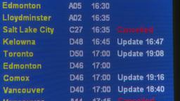 HD2008-12-10-3 Airport arr dep board Stock Video Footage