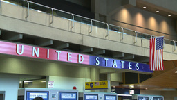 HD2008-12-10-11 US boarding airport Stock Video Footage
