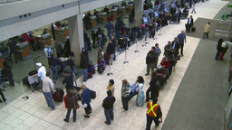 HD2008-12-10-15 Airport departures people line up Footage