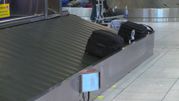 HD2008-12-10-27 Airport luggage carousel Stock Video Footage