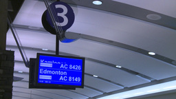 HD2008-12-10-29 Airport arrivals monitor Stock Video Footage
