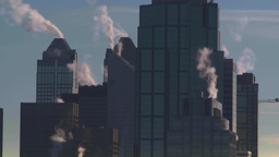 HD2008-12-10-35 TL (720p) winter Calgary downtown skyline Stock Video Footage