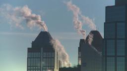 HD2008-12-10-37 winter Calgary downtown skyline Footage