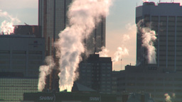 HD2008-12-10-39 winter Calgary downtown skyline Footage