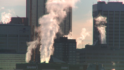 HD2008-12-10-39 winter Calgary downtown skyline Stock Video Footage