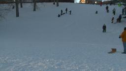 HD2008-12-11-14 tobbagan hill Stock Video Footage