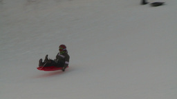 HD2008-12-11-18 tobbagan hill crash header Stock Video Footage