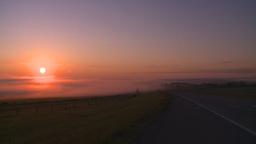 HD2008-7-1-8 sunrise fog highway Footage