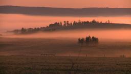 HD2008-7-1-14 sunrise fog Footage
