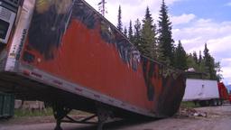 HD2008-7-1-30 semi trailer fire Stock Video Footage