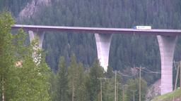 HD2008-7-1-42 big bridge truck Footage