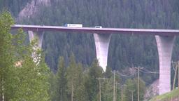 HD2008-7-1-42 big bridge truck Stock Video Footage