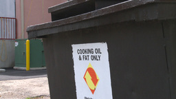 HD2008-7-1-44 cooking fats recycle Stock Video Footage