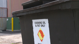 HD2008-7-1-44 cooking fats recycle Footage