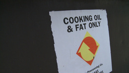 HD2008-7-1-46 cooking fats recycle Stock Video Footage