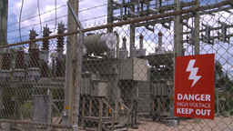 HD2008-7-1-49 high voltage sign Footage