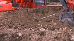 HD2008-7-1-51 backhoe scoop Stock Video Footage