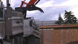 HD2008-7-2-2 backhoe dump truck Stock Video Footage