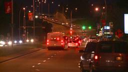 HD2008-7-2-30 night traffic mcleod Stock Video Footage