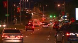 HD2008-7-2-30 night traffic mcleod Stock Video Footage