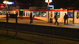 HD2008-7-2-38 LRT leaves stn night Footage