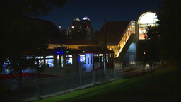 HD2008-7-2-40 LRT leaves stn night Footage