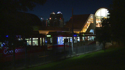 HD2008-7-2-40 LRT leaves stn night Stock Video Footage