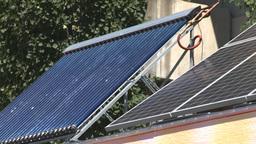 HD2008-7-3-2 solar panels Stock Video Footage