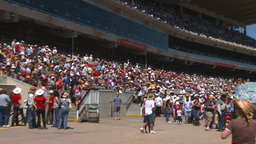 HD2008-7-3-6 Stampede grandstand Stock Video Footage