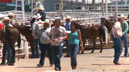 HD2008-7-3-8 cowboys rodeo infield Footage