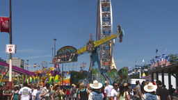 HD2008-7-3-10 midway rides Stock Video Footage