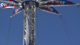 HD2008-7-3-14 midway rides Stock Video Footage
