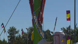 HD2008-7-3-24 midway rides Stock Video Footage