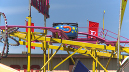 midway rides roller coaster Stock Video Footage