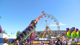 HD2008-7-3-28 midway rides Stock Video Footage
