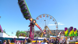 HD2008-7-3-28 midway rides Footage